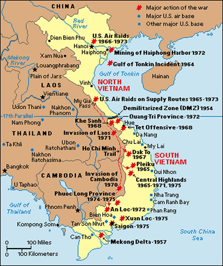 Map Of The Vietnam War The Finer Times