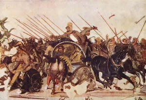 Alexander battling Darius at the Battle of Issus - Image Credit: Naples National Archaeological Museum