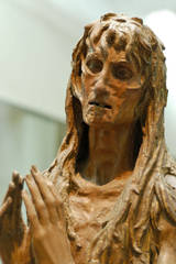 Wood carving of Mary Magdalen by Donatello